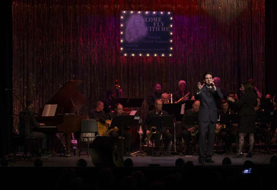 "Victor Suarez performs at the Crighton Theatre along with the Lone Star College-Montgomery Jazz Ensemble Saturday in ""Come Fly With Me."""
