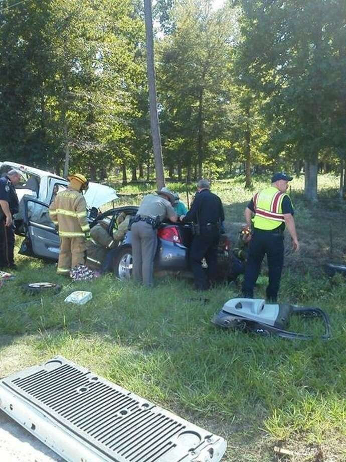 A three-car accident, on Tuesday, Sept. 24, sent several people to the hospital, including four Cleveland students. Responders were called to the scene at around 4:20 p.m. Photo: Submitted Photo