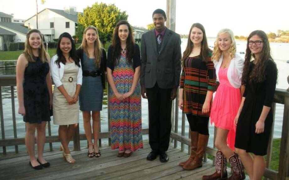 Left to right: Madeline Smith, Willis High School; Chelly Jin, The Woodlands College Park High School; Alexandra Byrnes, The Woodlands College Park High School; Jacqueline Pace, Willis High School; Walter Carter, Conroe High School; Stephanie Barrick, The Woodlands College Park High School; DeAnna Morris, Montgomery High School; Dalanie Aufill, Montgomery High School.