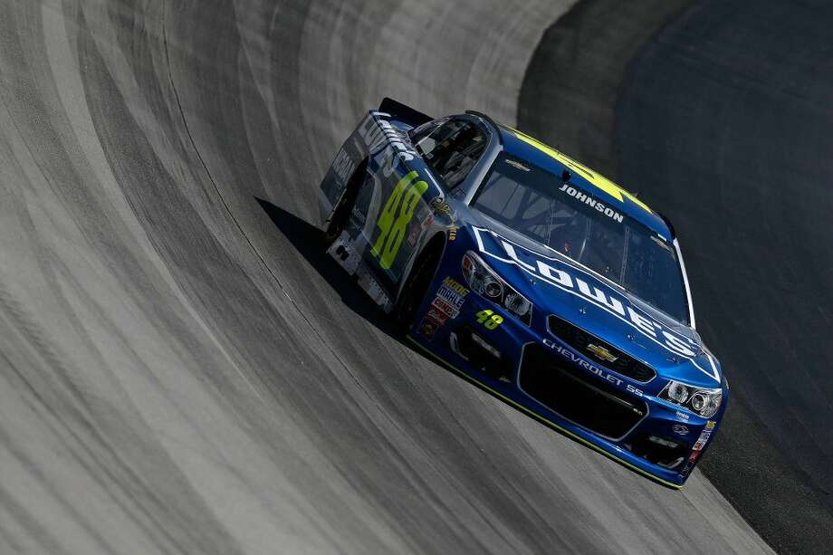 DOJimmie Johnson practices for the NASCAR Sprint Cup Series AAA Drive For Autism at Dover International Speedway on Saturday in Dover, Delaware. Photo: Jeff Zelevansky