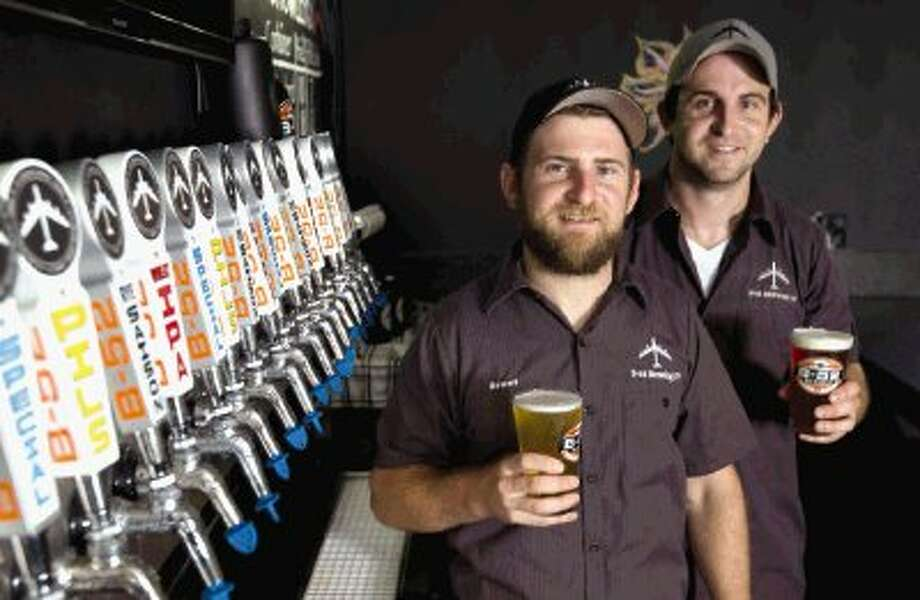 Brothers Brent and Chad Daniel recently opened B-52 Brewing Co. in Conroe. / Conroe Courier / HCN