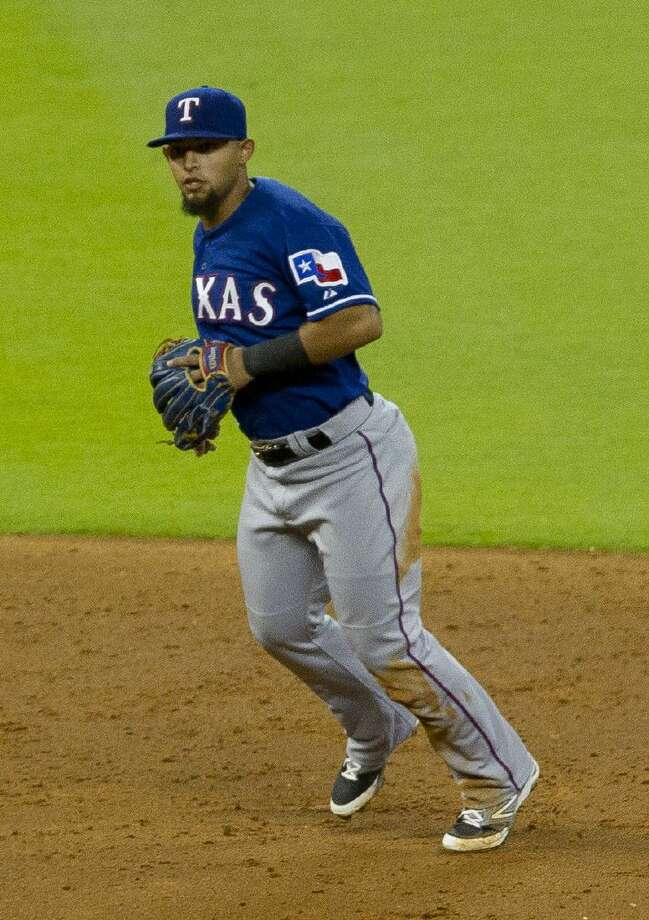 Texas Rangers second baseman Rougned Odor was suspended eight games for punching Toronto Blue Jays right fielder Jose Bautista. Photo: Jason Fochtman