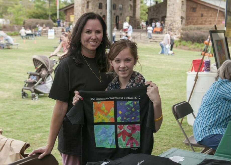 The 2012 Grand Prize T-shirt contest winner Natalie Osmond is pictured with her mom at last year's Wildflower Festival. Photo: Ted Washington