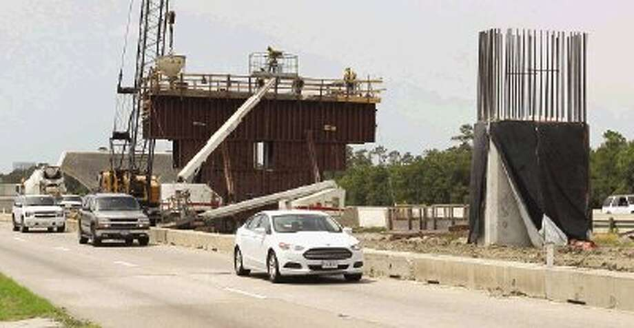 Construction on the flyovers at Texas 242 and Interstate 45 is expected to be completed in December. The $33 million project is part of pass-through toll project in which Montgomery County partnered with the Texas Department of Transportation.