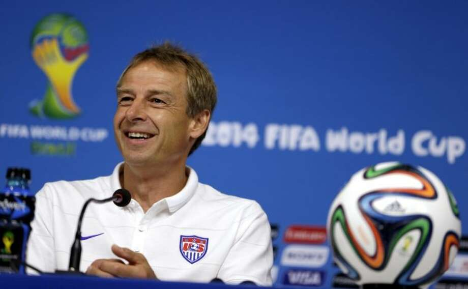 United States coach Jurgen Klinsmann needs a stronger offensive attack on Tuesday against Belgium. Photo: Julio Cortez