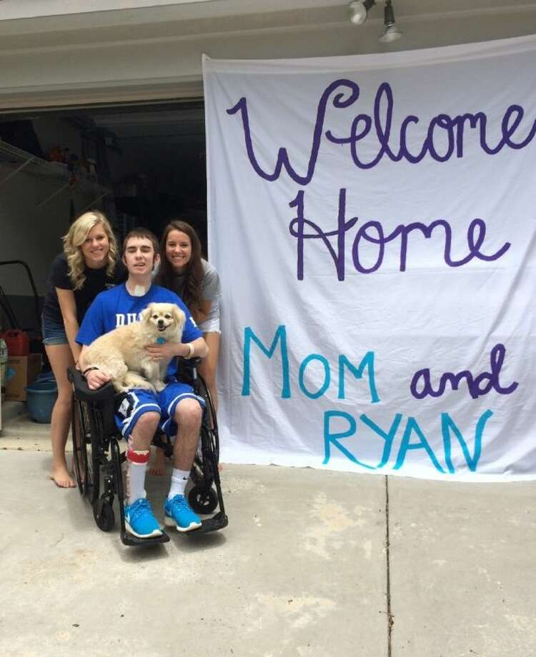Ryan Black took in a big welcome home Wednesday after spending seven months in the hospital following an ATV accident in November 2013. Despite a grim initial prognosis, the 17-year-old Willis High School student is on a long, but challenging, path to recovery — one his family says they will be taking one day at a time.Contributed photo Photo: Contributed Photo