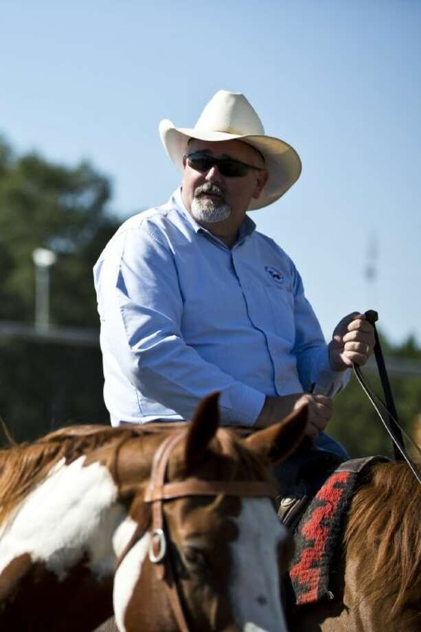 Harris County Precinct 4 Commissioner R. Jack Cagle rides a horse during the beginning of the 249 Groundbreaking on Wednesday in Tomball. The event, hosted by the Greater Tomball Area Chamber of Commerce, recognized the beginning of the $335 million improvement to SH 249. To view or purchase this photo and others like it, go online to HCNPics.com.