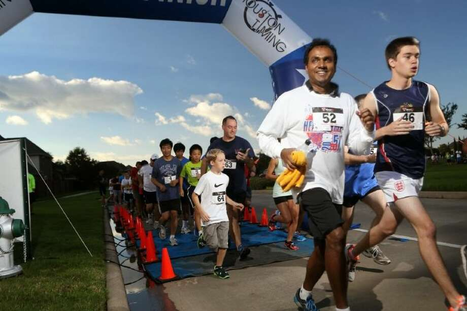 Hundreds of competitors and supporters showed up Saturday for this year's Heart and Sole 5k in Riverstone, enjoying a run through the community and plenty of post-race activities. Photo: Submitted Photo