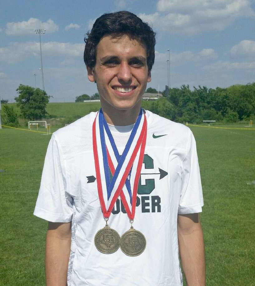 John Cooper School's Pedro Nasta won gold in both the 3,200-meter and 1,600-meter runs at the SPC Championships last weekend.