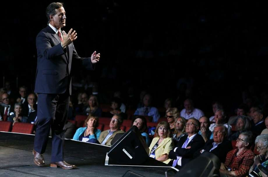 Republican presidential candidate, former Pennsylvania Sen. Rick Santorum, speaks during the Western Conservative Summit in Denver, Friday. Photo: Brennan Linsley