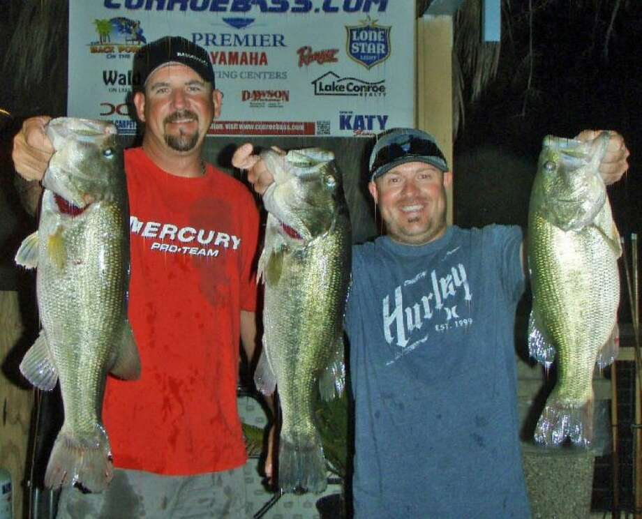 Julian Clepper and Tony Murray won the Conroe Bass Tuesday Night Tournament on June 24 with a stringer weight of 15.53 pounds.