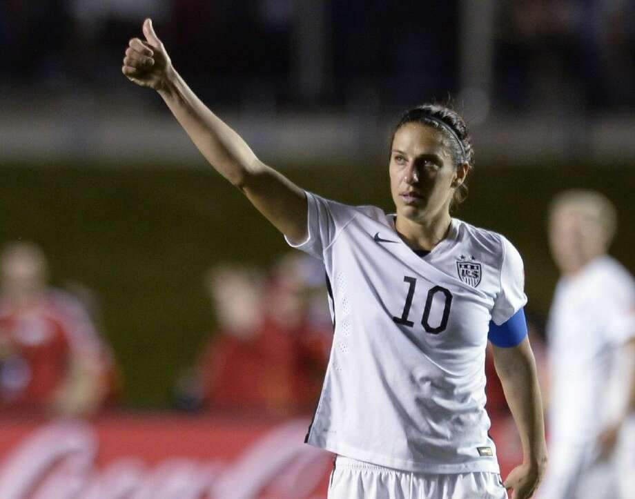 United States' Carli Lloyd looks toward fans after the United States defeated China 1-0 in a quarterfinal match in the FIFA Women's World Cup, Friday. Photo: Adrian Wyld