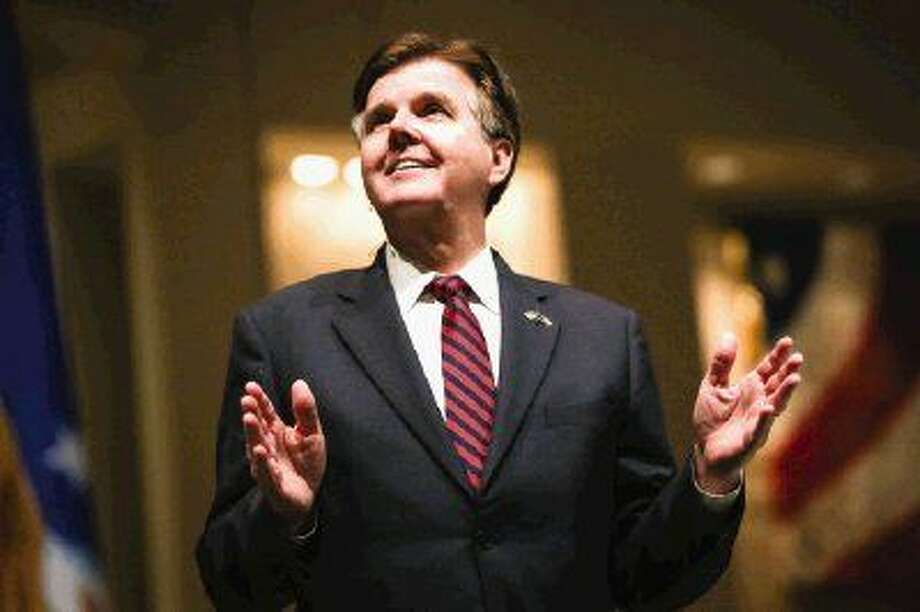 Texas Lt. Gov. Dan Patrick speaks during the Celebrate America event on Sunday at Mims Baptist Church in Conroe. Photo: Michael Minasi
