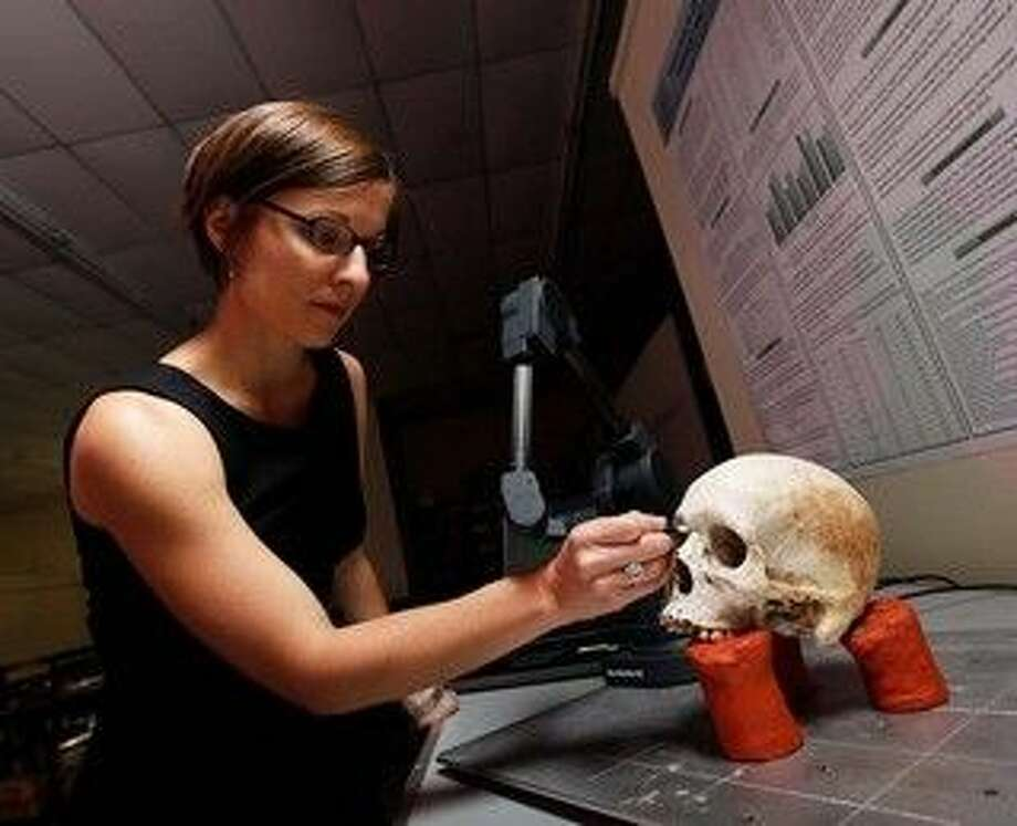 Dr. Kate Spradley, an anthropologist at Texas State University, directs a project aimed at identifying remains found at the Sacred Heart Cemetery in Brooks County. Her project recently gained volunteers from Operation Identification for the Reuniting Families, an all-volunteer organization of forensic scientists.