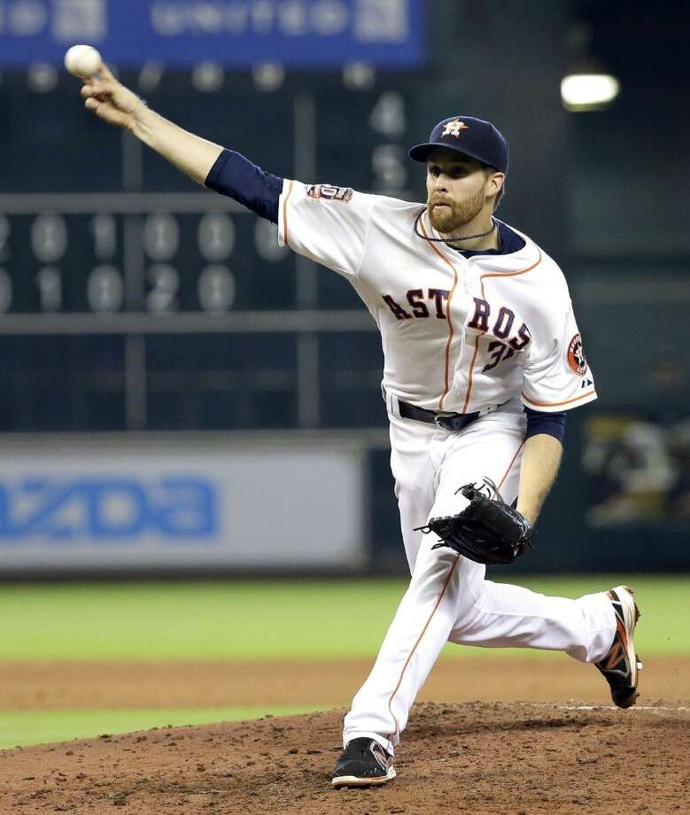Astros pitcher Collin McHugh guided the team to a 3-1 victory over the Yankees on Sunday. Photo: David J. Phillip