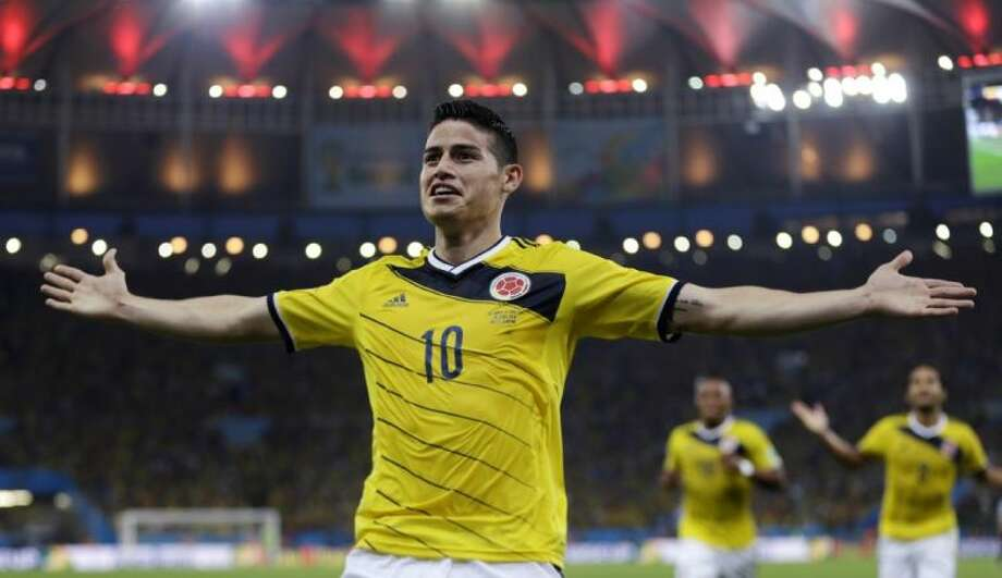 Colombia's James Rodríguez leads all World Cup players with five goals. Photo: Natacha Pisarenko