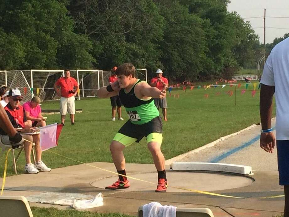 The Woodlands track and field standout Tripp Piperi captured first place in the boys shot put on Tuesday in the USATF World Youth Trials in Napierville, Illinois, on Tuesday, with a mark of 69 feet, 1 1/4 in the shot used in international competition.