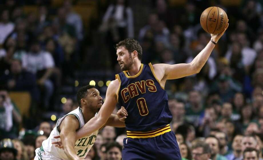 Kevin Love announced in The Players Tribune on Wednesday that after his uneven first season ended with a serious shoulder injury, he is coming back to help LeBron James finish what they started together last season. Photo: Charles Krupa
