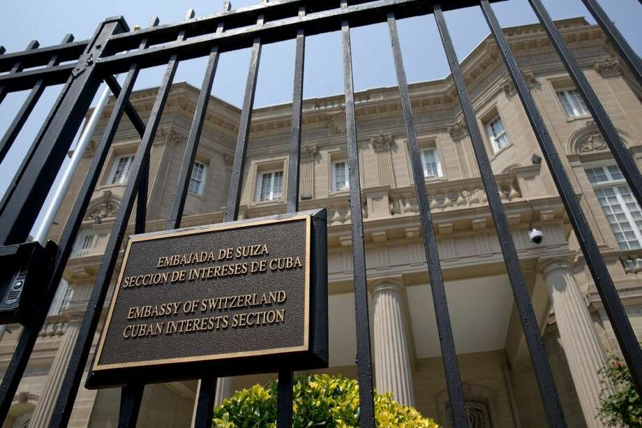 The Cuban Interests Section, which serves as the de facto diplomatic mission of Cuba to the United States, is seen in Washington, Wednesday. Photo: Jacquelyn Martin