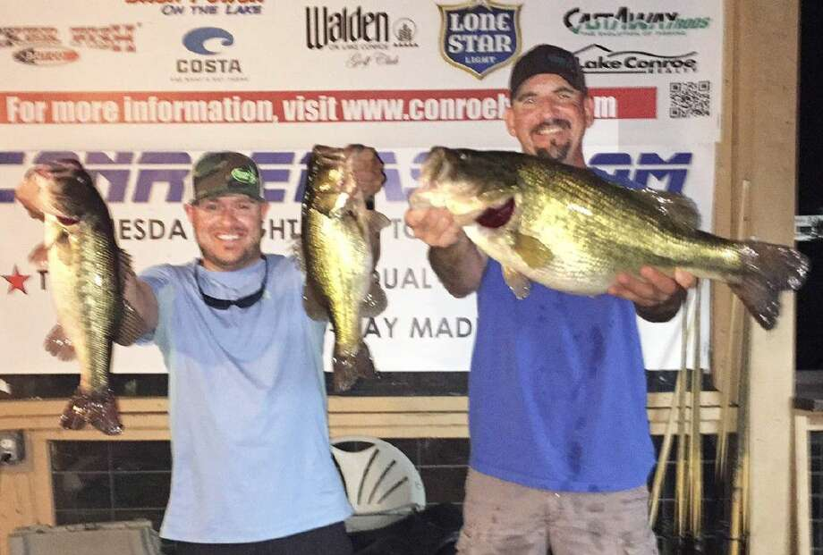 Julian Clepper and Tony Murray came in second place in the CONROEBASS Tuesday tournament with a total stringer weight of 17.38 pounds.