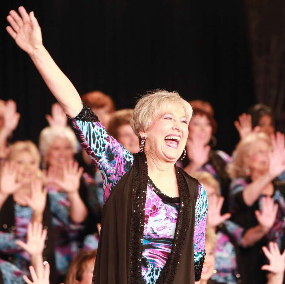 "Betty Clipman directs The Woodlands Show Chorus, a group of 80 women who harmonize in barbershop fashion. TWSC performs with Sweet Adelines International Champion quartet Speed of Sound, and C.A.S.T., (Class Act Stars on Tour) during ""Music in Motion"" June 11 at 2 and 6 p.m. Photo: Patricia J. Shaffer"