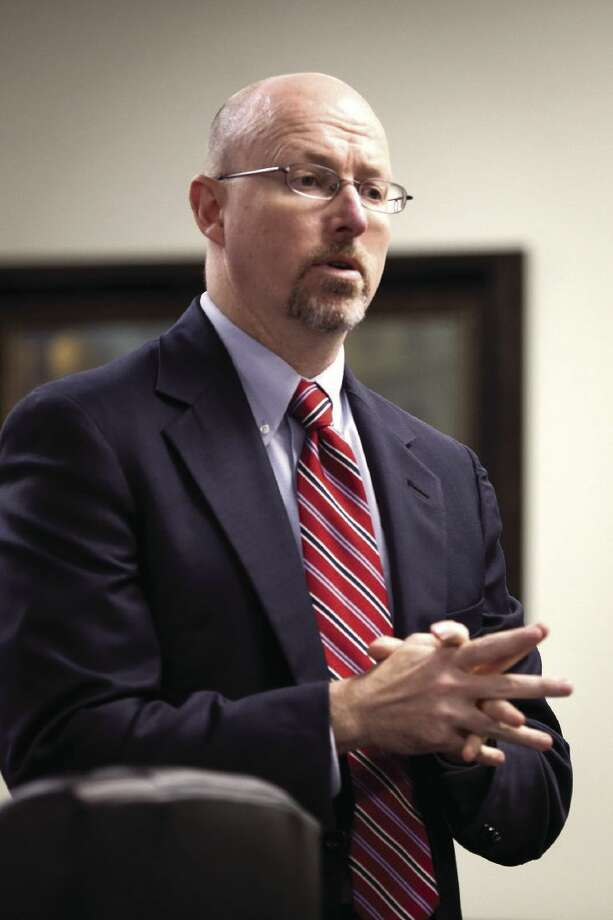 Prosecutor Mike Holley, with the Montgomery County District Attorney's Office, speaks in the 359th State District Court in Conroe. Photo: Michael Minasi