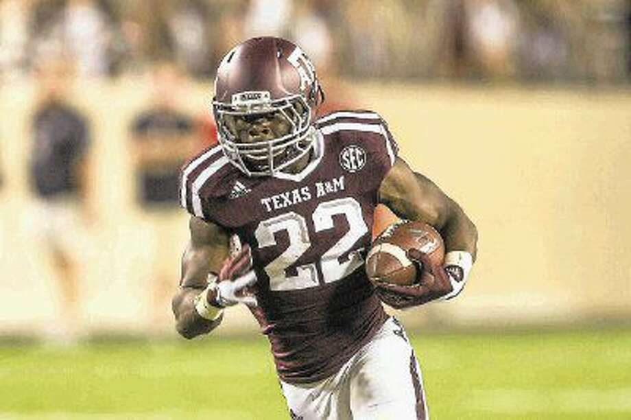 Former Oak Ridge running back Kwame Etwi rushed for 72 yards and a touchdown in Texas A&M's Maroon and White Spring Game last month.