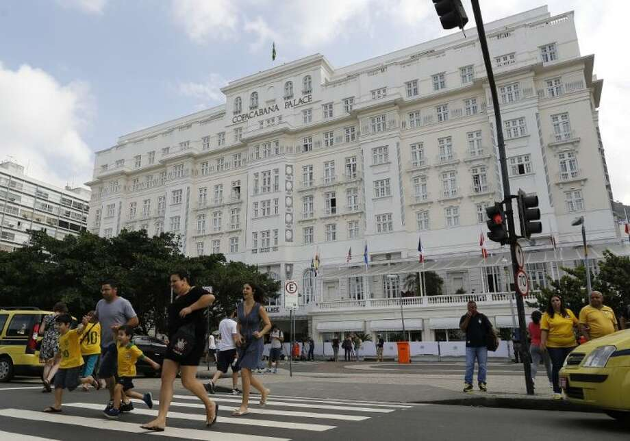 World Cup corporate hospitality executive Ray Whelan left the lavish Copacabana Palace through a service entry about an hour before police arrived to re-arrest him on Thursday. Whelan, who was detained Monday and released Tuesday, is suspected of involvement with a ticket-scalping ring. Photo: Leo Correa