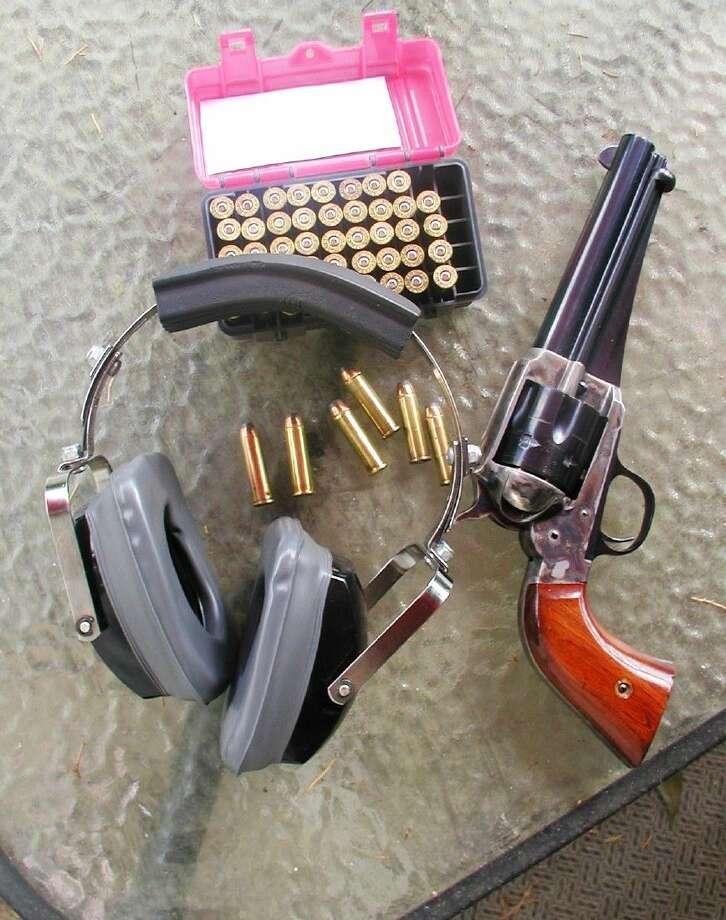 Larry J. LeBlanc prefers earmuff style hearing protectors when shooting handguns and rifles.