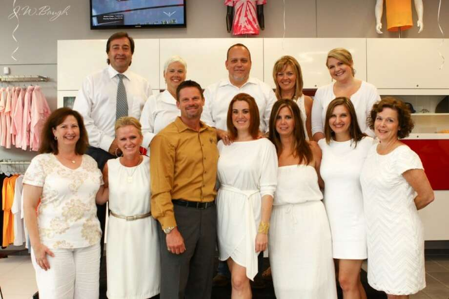 """The 2012 Montgomery County Cattle Baron's Ball Committee at a """"Round Up Event"""" at Northside Fiat to kick off the 2012 ball set for Oct. 30."""