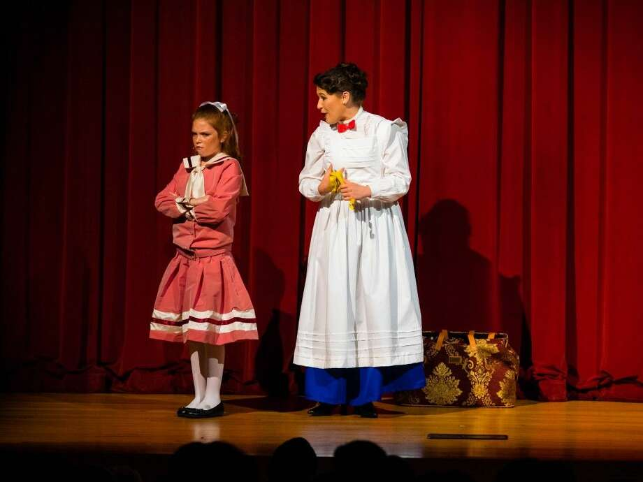 Greta Lamb, left, and Katja Yanko are Jane and Mary in Class Act Productions presentation of Mary Poppins. Performances are July 10-19 at Nancy Bock Center for the Performing Arts.