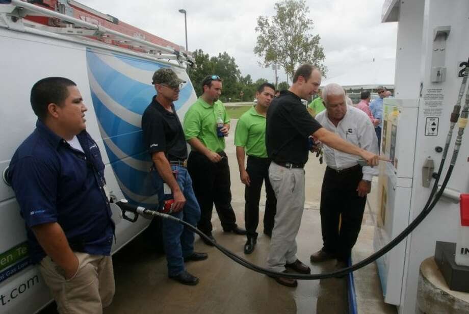 Business community members came out to Freedom CNG Thursday, Sept. 19 to see a demonstration of the new CNG pump station that is open to the public.