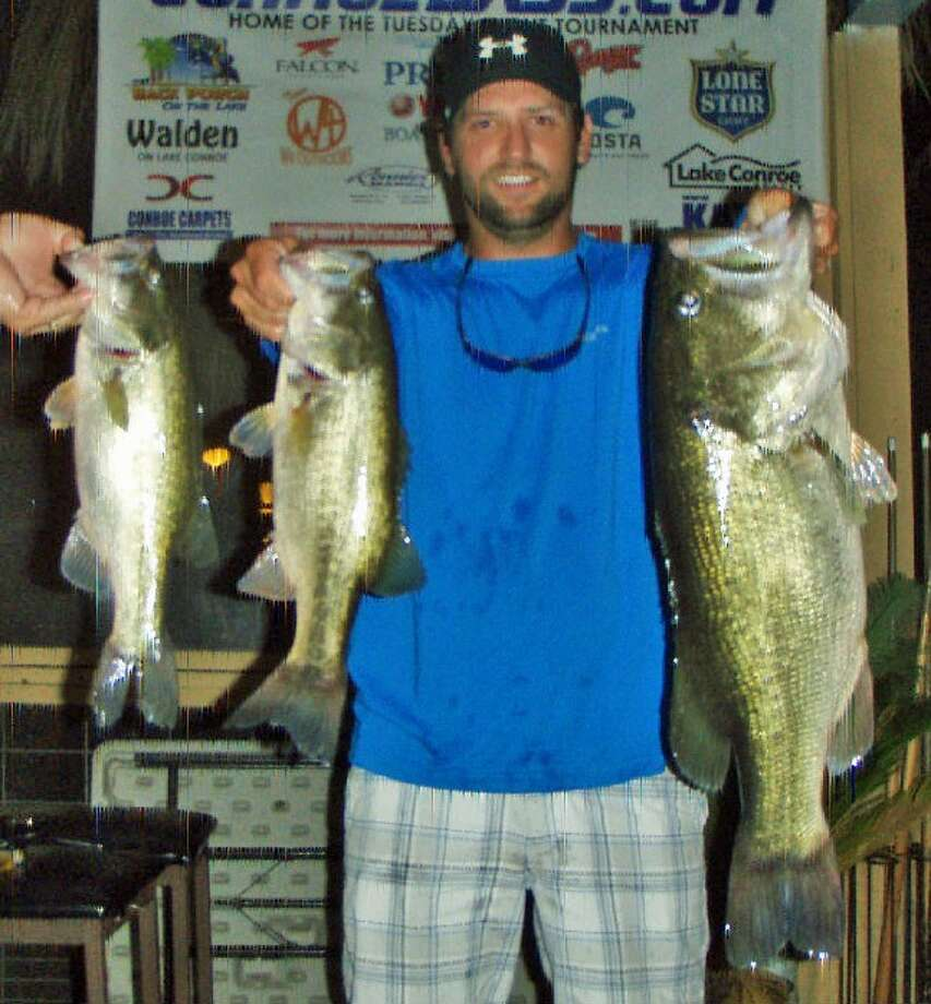 Taylor Robbins won the Conroe Bass Tuesday Night Tournament on July 8 with a stringer weight of 14.2 pounds.