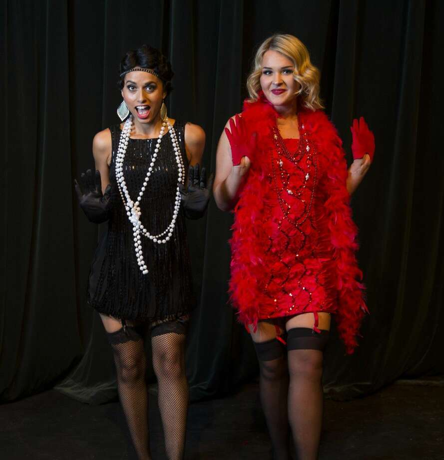 """""""Chicago"""" has its final three shows at the Owen Theatre Friday and Saturday. Pictured are Courtney Locke as Velma Kelly and Caroline Parks as Roxie Hart. Visit owentheatre.com or call 936-539-4090 for tickets."""