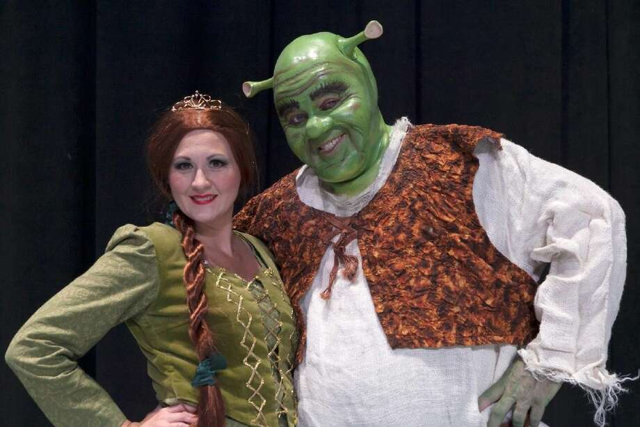 """Scarlett Czarnopis plays Fiona and Jeff Baldwin is Shrek in Stage Right's """"Shrek - The Musical"""" which opens Friday at the Crighton Theatre. Photo: Photographer: Michael Pittman"""