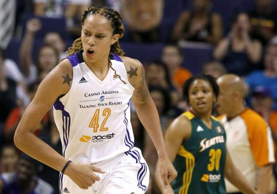 Brittney Griner is having a breakout season for the Phoenix Mercury. Photo: Ross D. Franklin