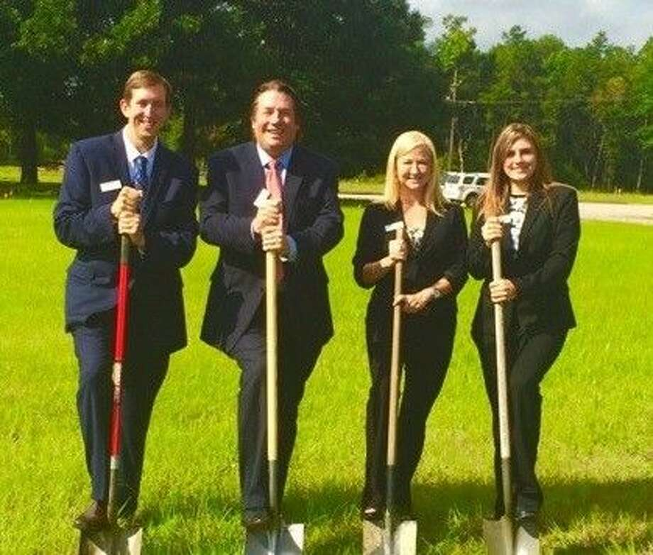 Westbound Bank held a groundbreaking ceremony for its new Conroe branch July 1. Pictured, from left to right, are: Nick Davis, senior vice president; Troy England, president; Tonya Weinzettle, senior vice president; and Amanda Anders, credit analyst.