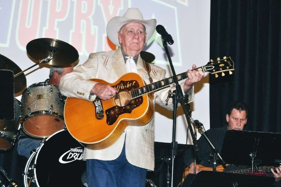 """Arnold Parker of Rockabilly Hall of Fame was the featured entertainer at the popular """"Country"""" theme Hometown Opry Show held at East Harris County Activity Center. Photo: JACKIE WELCH"""