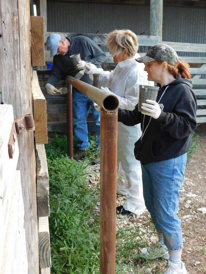 Some 40-plus Conroe Noon Lions Club members made their annual trek to Kerrville for Work Weekend at the Texas Lions Camp. They repaired trailers, painted fencing and equipment, fixed buildings, replaced doors and performed many odd jobs to make the camp ready for the 1,500 physically disabled and diabetic children who will attend camp this summer.