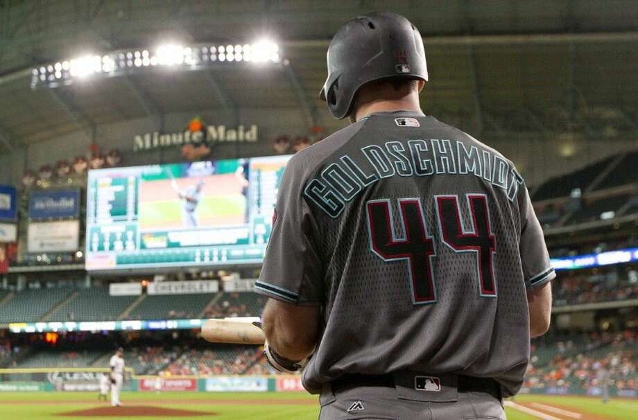 Arizona Diamondbacks first baseman and TWHS graduate Paul Goldschmidt prepares for an at-bat during Thursday's game against the Astros. Photo: Jason Fochtman