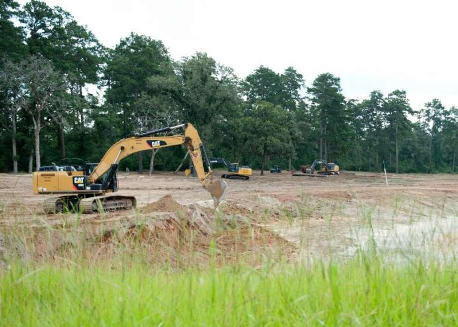 Construction has started on Bluejack National, an 18-hole golf course that will include amenities and residential communities off of FM 1486 near Montgomery. Photo: HOLLY PAULSON