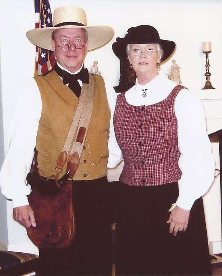 Eric and Glenda Sandifer of Baytown will bring the characters of Frank and Cynthia Hardin to life on Oct. 26-27 for tours being conducted by the Liberty County Historical Society.