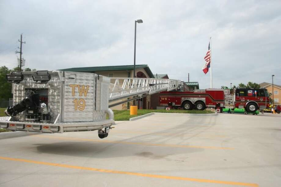 The Atascocita Volunteer Fire Department had all their equipment on display for the public at its Fall Festival, including this ladder truck.