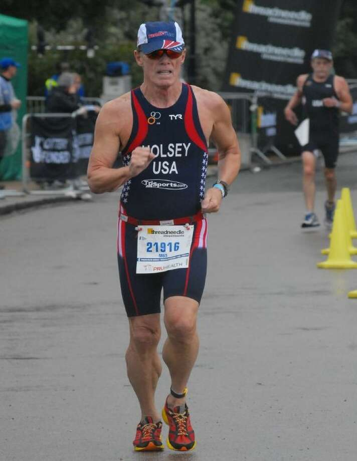 Dr. David Holsey competed for Team USA at the International Triathlon Union's World Triathlon Championships in London.