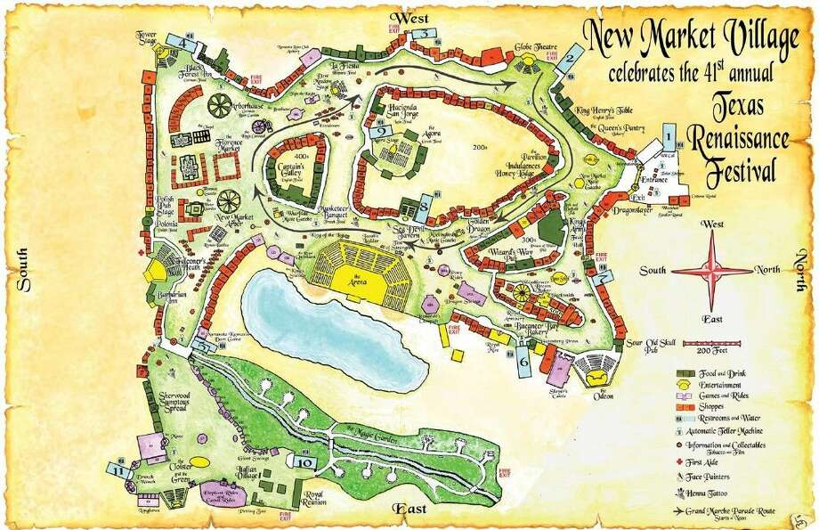 Map Of Texas 2015.Map Reveals New Additions To Texas Renaissance Festival 2015 Season