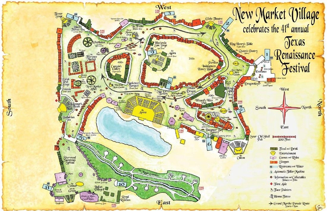 Map Reveals New Additions To Texas Renaissance Festival
