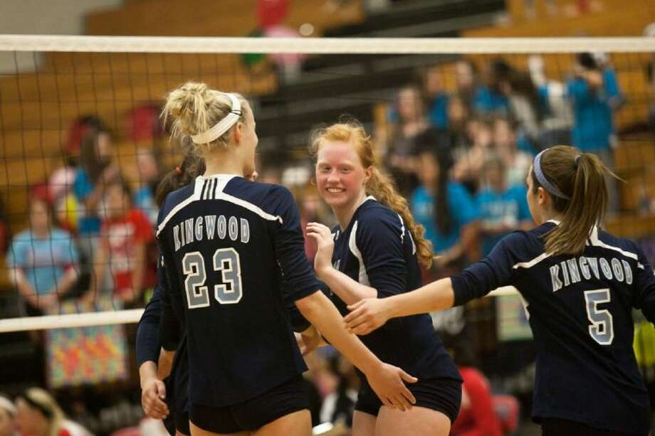Kingwood's Devyn Johnson, center, got the nod for All-Area Co-Setter of the Year.