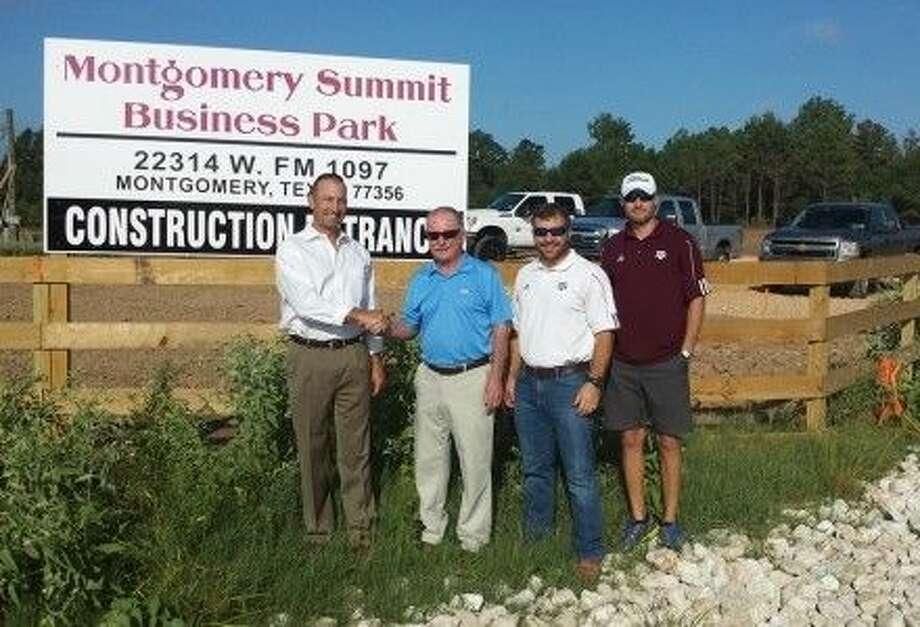 Couresty photo Mike Ogorchock along with his sons Kris and Michael are building a mixed used business park in Montgomery. Also pictured is Wade Nelson with The Nelson Company.