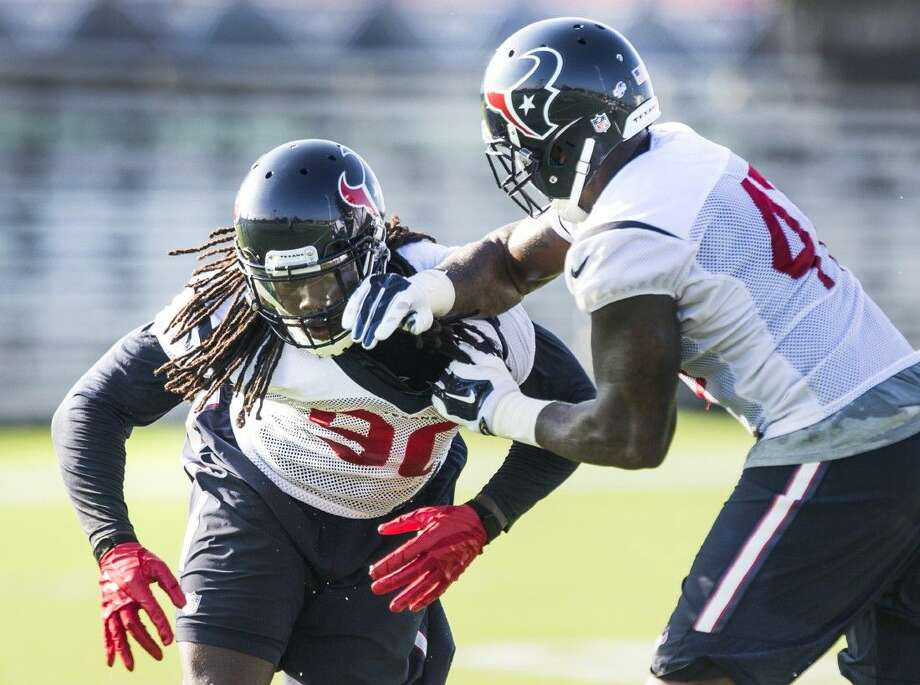 Texans outside linebacker Jadeveon Clowney is looking to bounce back from an injury-plagued first season after being made the No. 1 pick in the NFL draft. Photo: Brett Coomer
