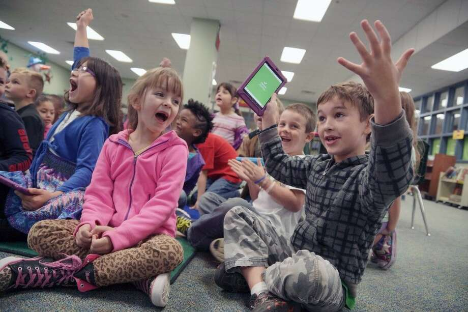 Canaan Elementary students learn about staying safe online during Willis ISD's observance of Digital Citizenship Week.